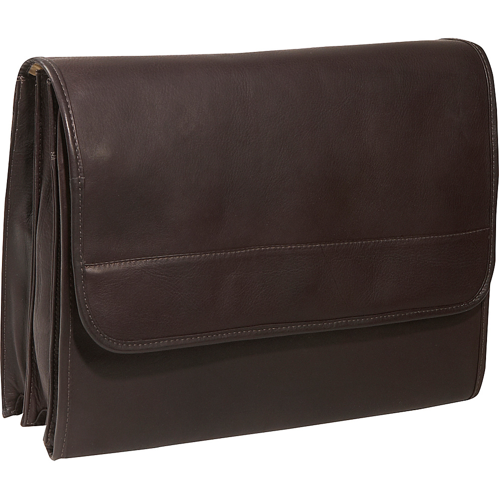 Piel Envelope Portfolio - Chocolate - Work Bags & Briefcases, Non-Wheeled Business Cases