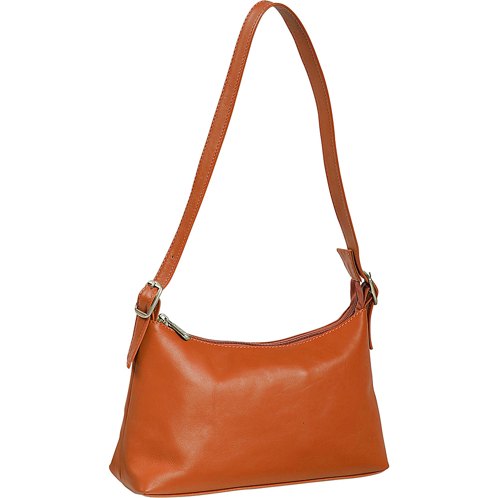 Piel Top Zip Mini Shoulder Bag - Saddle - Handbags, Leather Handbags