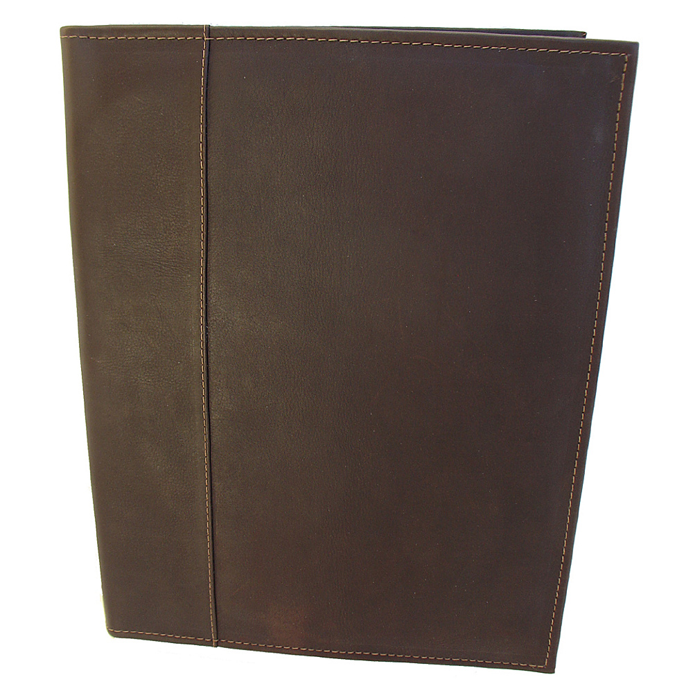 Piel Letter-Size Padfolio - Chocolate - Work Bags & Briefcases, Business Accessories