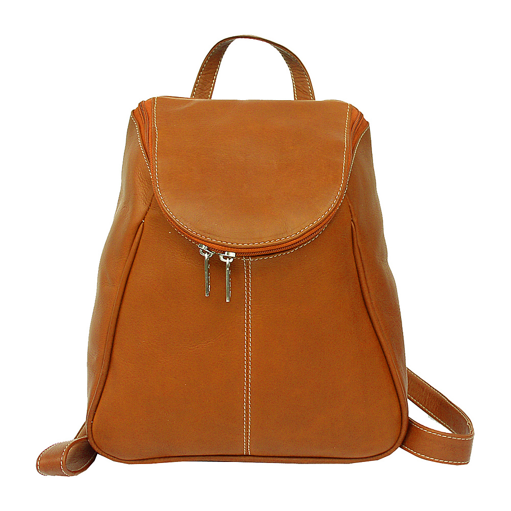 Piel U-Zip Flap Backpack - Saddle - Handbags, Leather Handbags