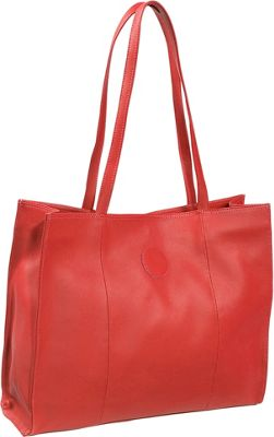 Piel Carry-All Market Bag - Red