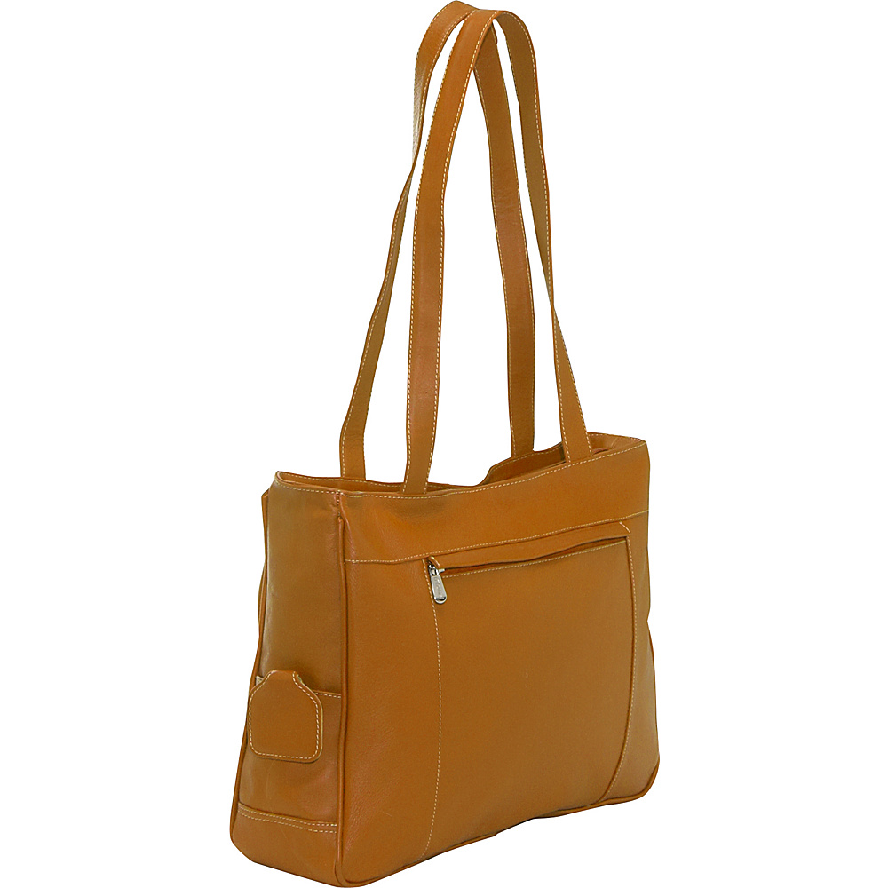 Piel Carry-All Work Bag - Saddle - Work Bags & Briefcases, Women's Business Bags