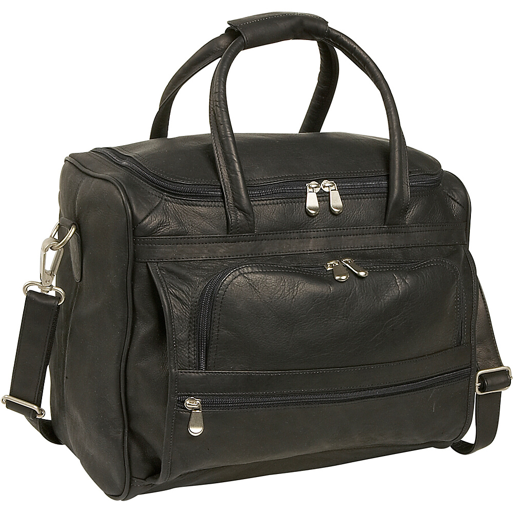 Piel Piggy Back Laptop Carry On - Black - Work Bags & Briefcases, Non-Wheeled Business Cases