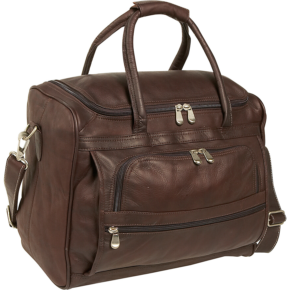 Piel Piggy Back Laptop Carry On - Chocolate - Work Bags & Briefcases, Non-Wheeled Business Cases