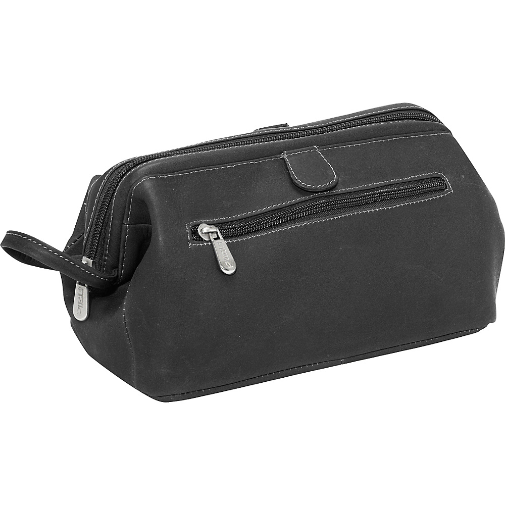 Piel Deluxe Top Frame Traveling Kit - Black - Travel Accessories, Toiletry Kits