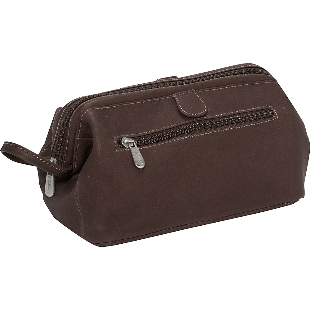 Piel Deluxe Top Frame Traveling Kit - Chocolate - Travel Accessories, Toiletry Kits