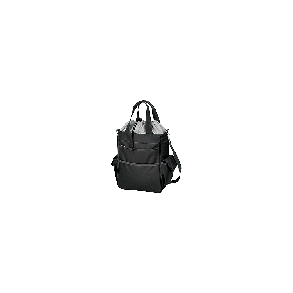 Picnic Time Activo Lunch Tote - Black/Silver - Outdoor, Outdoor Coolers