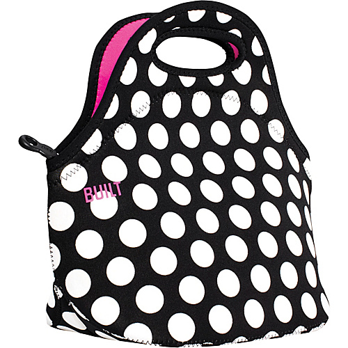 BUILT Gourmet Getaway Lunch Tote Big Dot Black & White - BUILT Travel Coolers