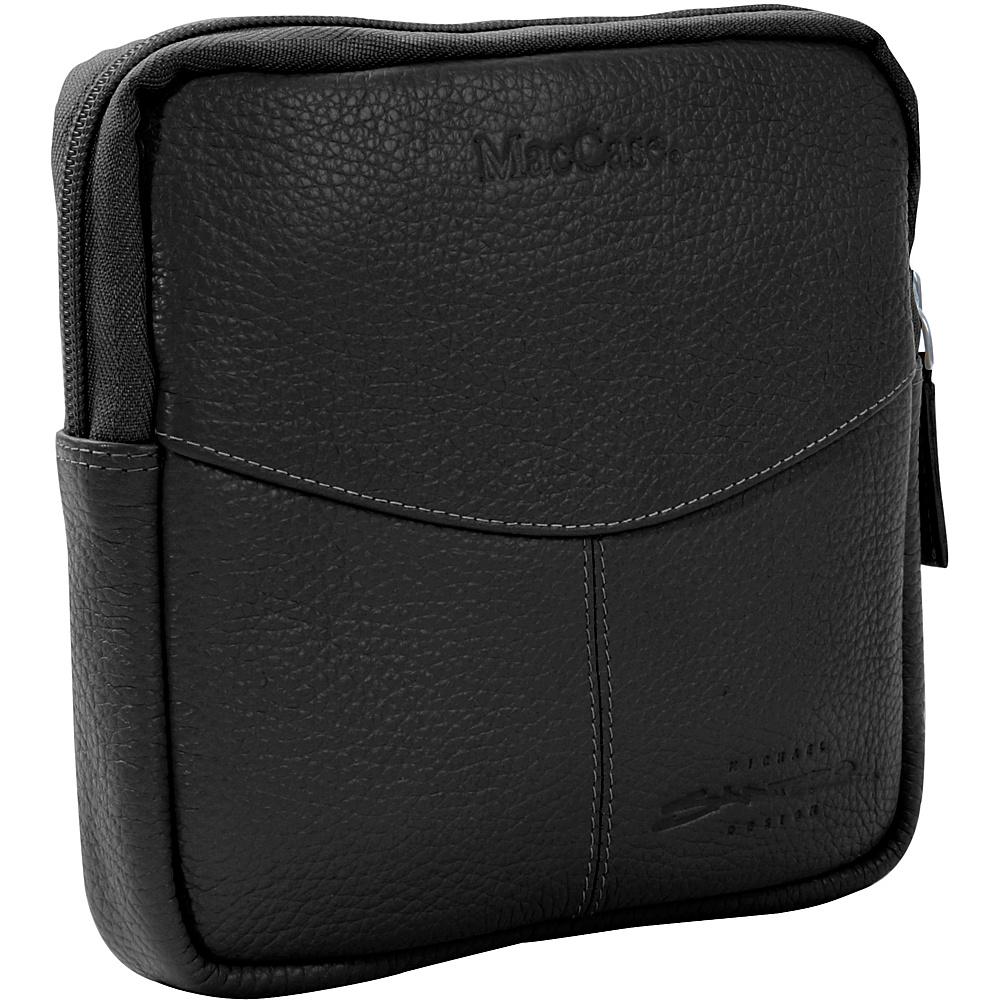 MacCase Premium Leather Accessory Case - Black - Technology, Electronic Accessories