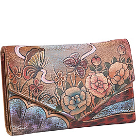 V-Flap Checkbook Wallet - Premium Rose Antique Premium Rose Antique