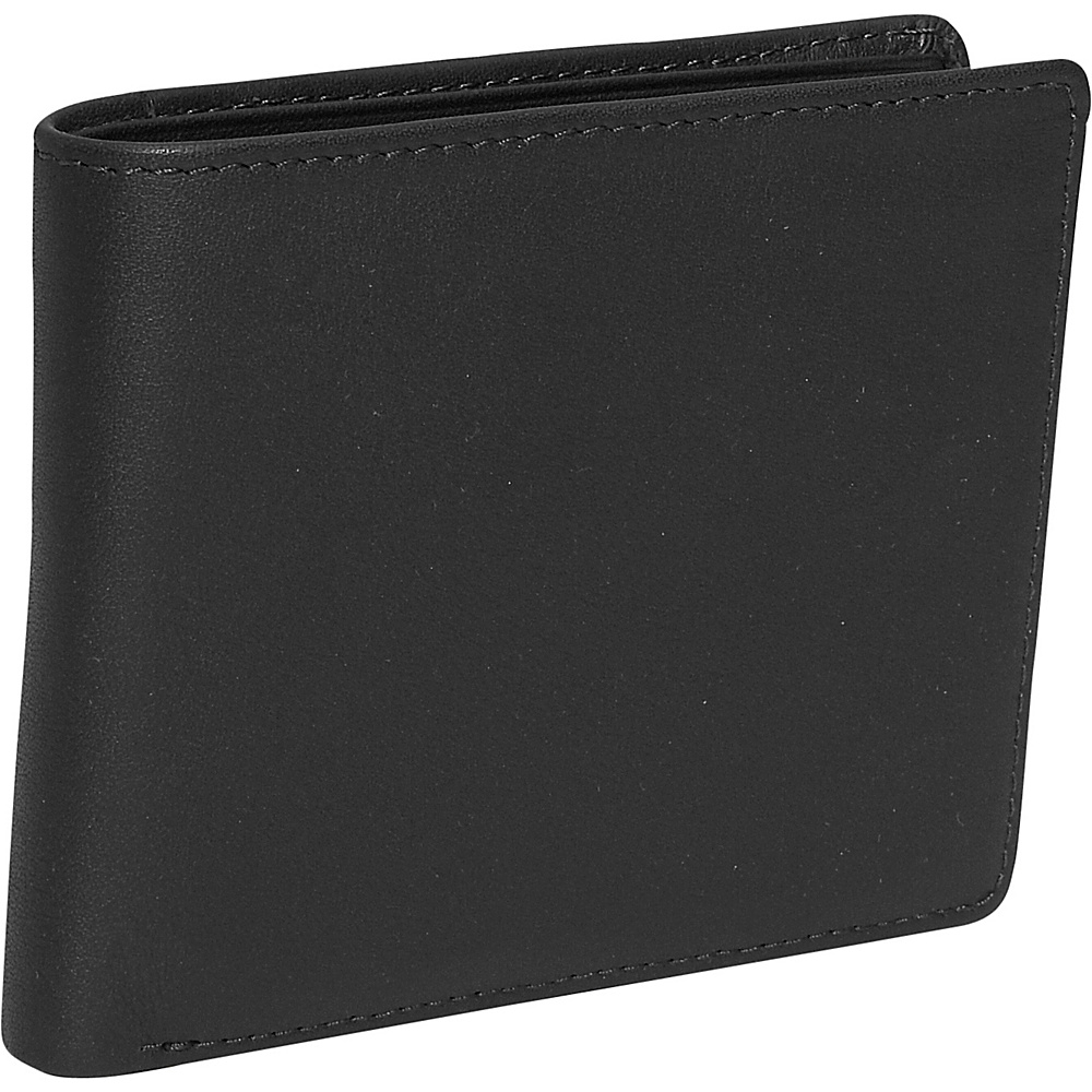 Royce Leather Mens Euro Commuter Wallet - Black - Work Bags & Briefcases, Men's Wallets