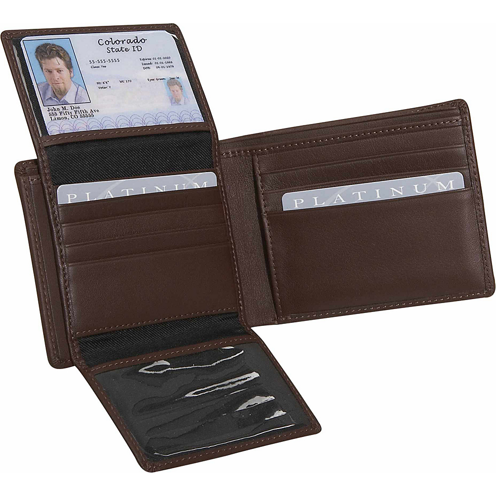 Royce Leather Mens Euro Commuter Wallet - Coco - Work Bags & Briefcases, Men's Wallets