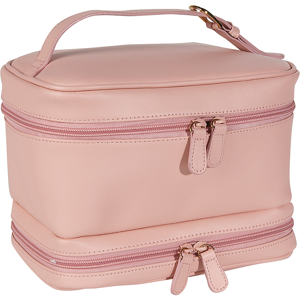 Royce Leather Ladies Cosmetic Travel Case - Carnation - Travel Accessories, Toiletry Kits
