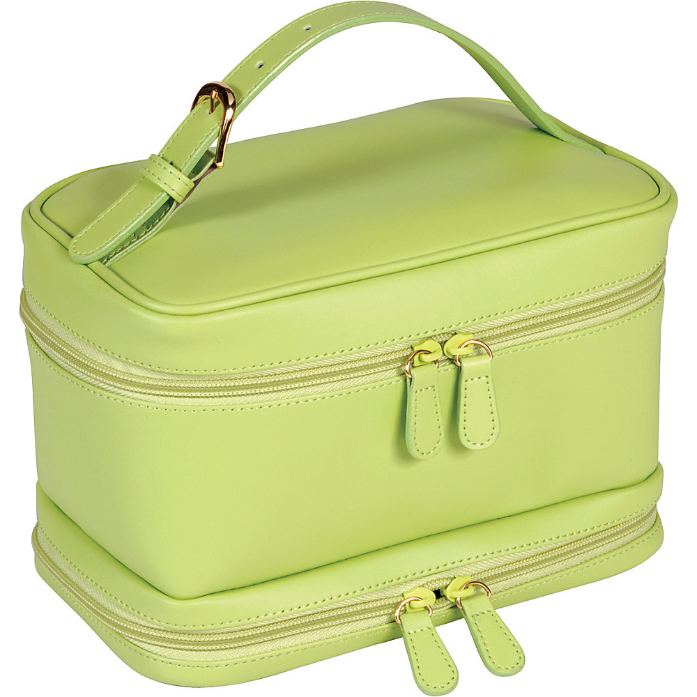 Royce Leather Ladies Cosmetic Travel Case - Key Lime - Travel Accessories, Toiletry Kits