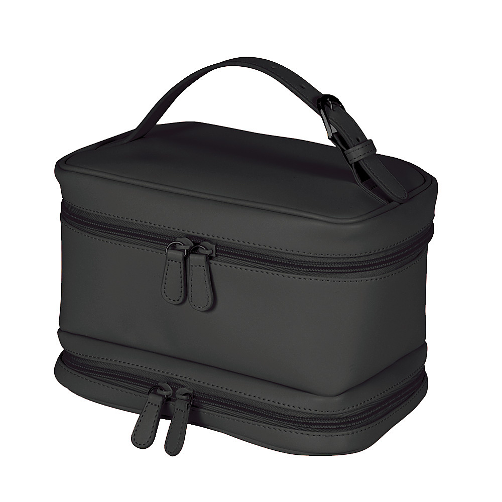 Royce Leather Ladies Cosmetic Travel Case - Black - Travel Accessories, Toiletry Kits