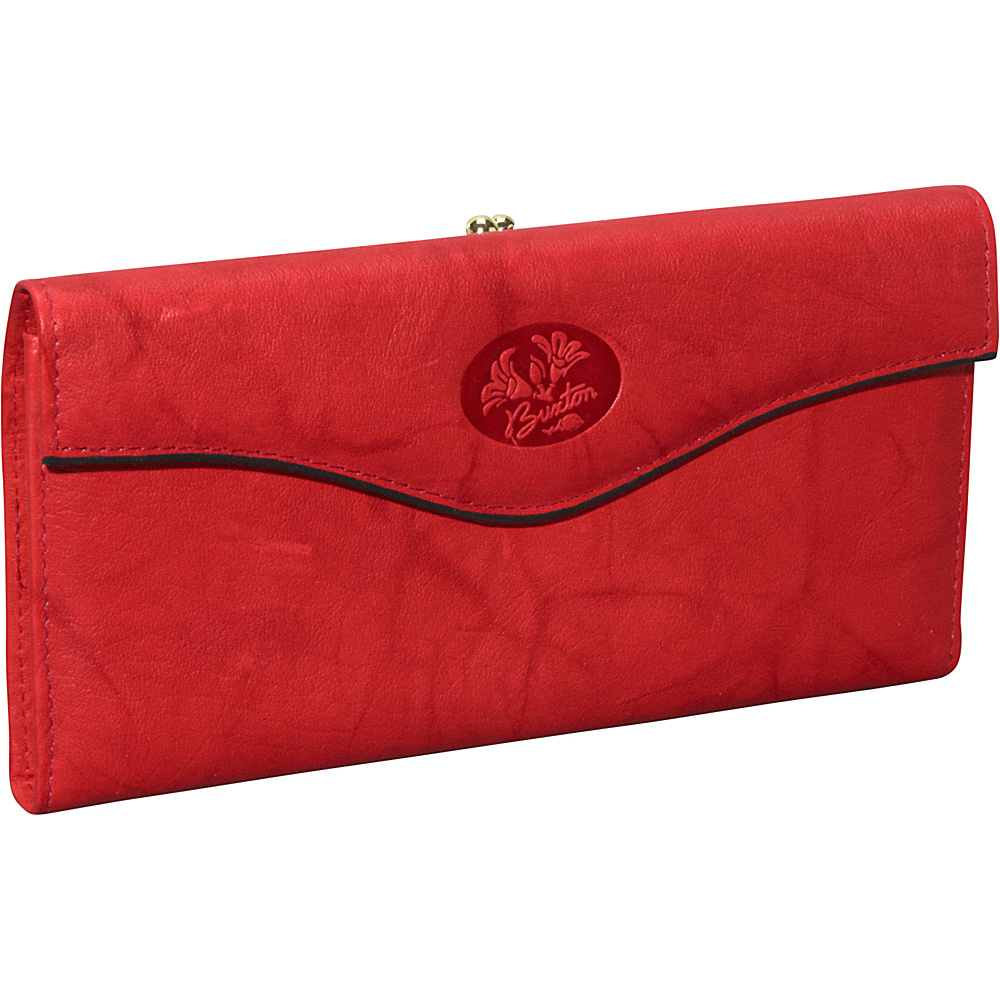 Buxton Heiress Organizer; Clutch Red - Buxton Women's Wallets