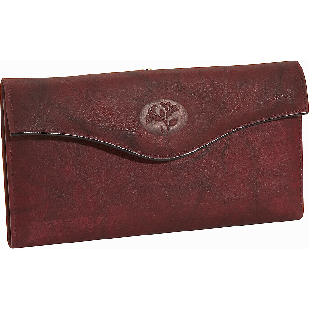 Buxton Heiress Organizer; Clutch Burgundy - Buxton Womens Wallets - Women's SLG, Women's Wallets