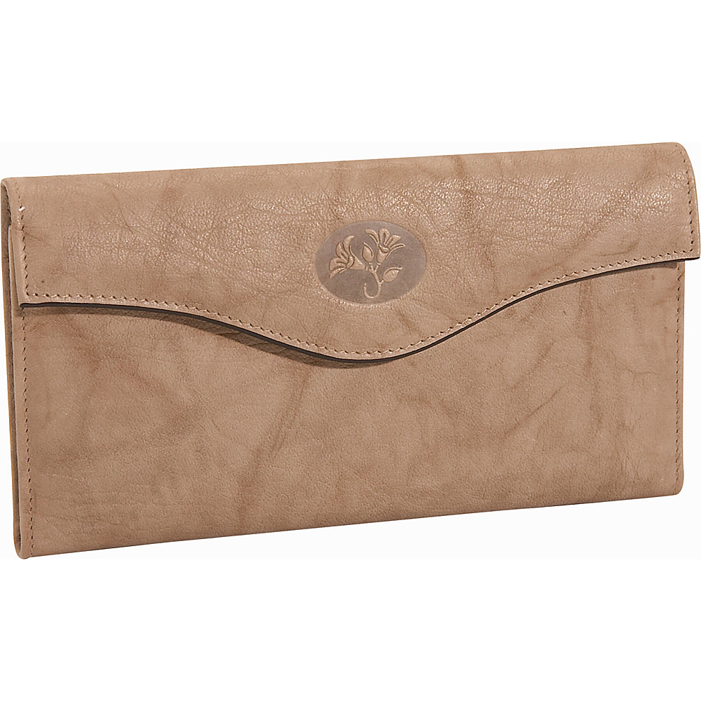 Buxton Heiress Organizer Clutch - Taupe - Women's SLG, Women's Wallets