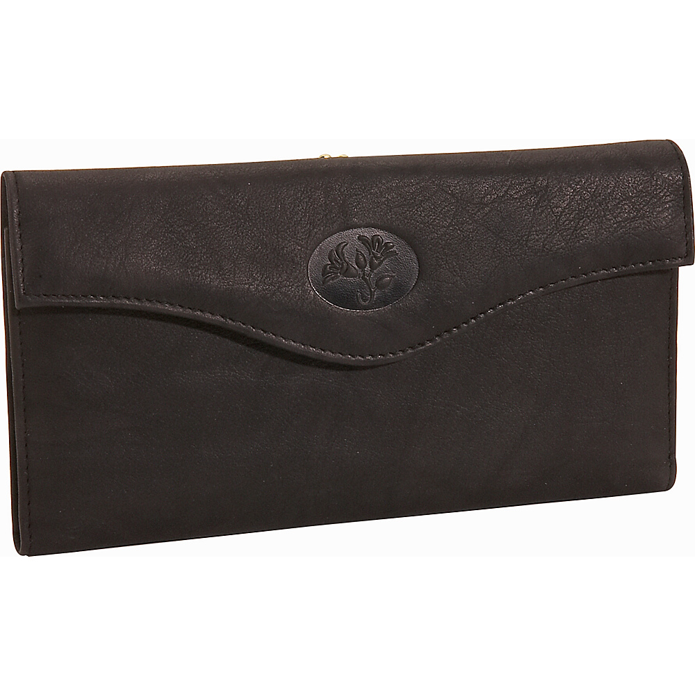 Buxton Heiress Organizer; Clutch Black - Buxton Women's Wallets