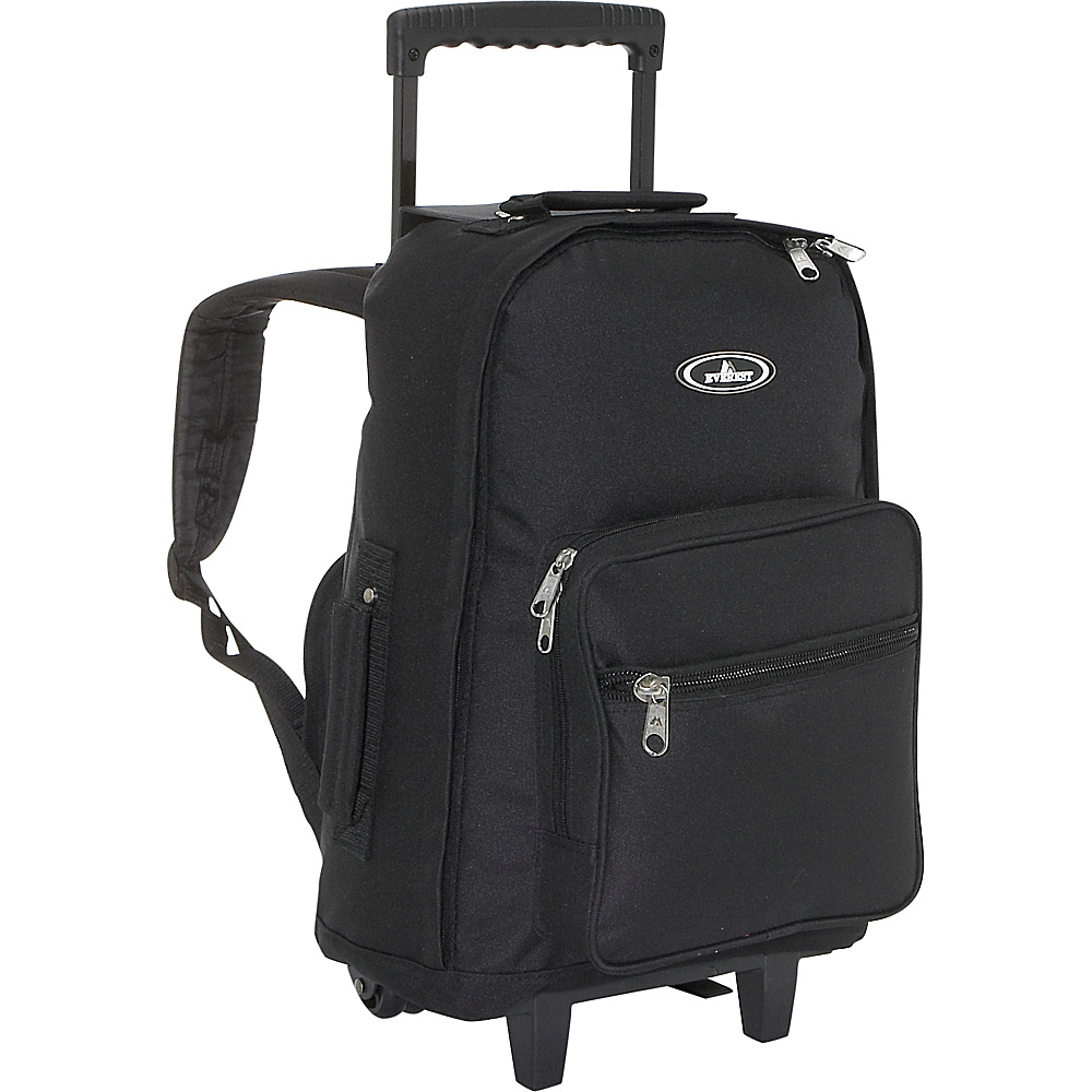 Everest Wheeled Backpack - Black - Backpacks, Rolling Backpacks
