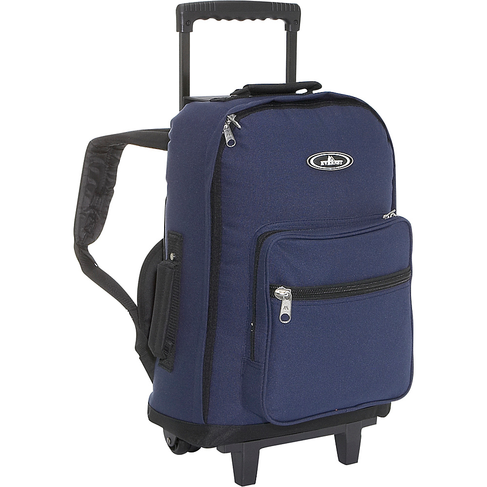 Everest Wheeled Backpack - Navy/Black - Backpacks, Rolling Backpacks