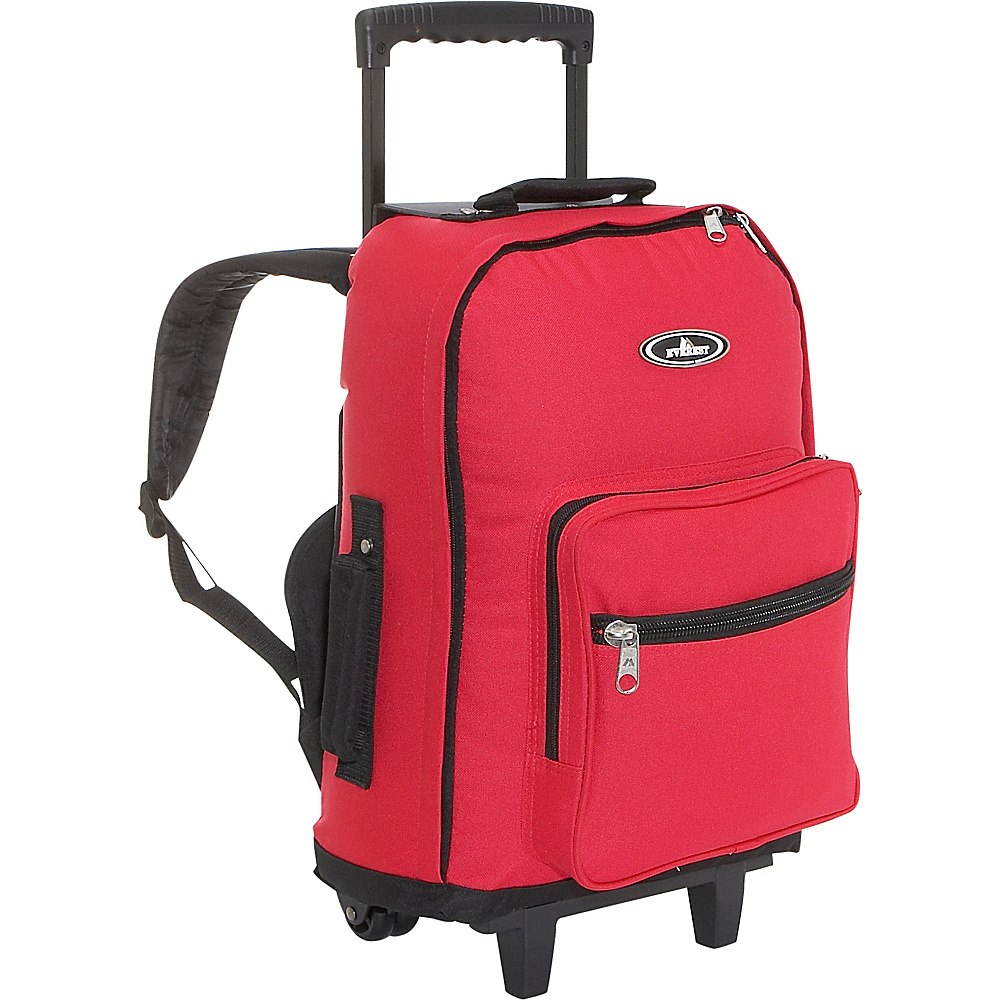 Everest Wheeled Backpack - Red/Black - Backpacks, Rolling Backpacks