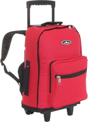 everest wheeled backpack redblack