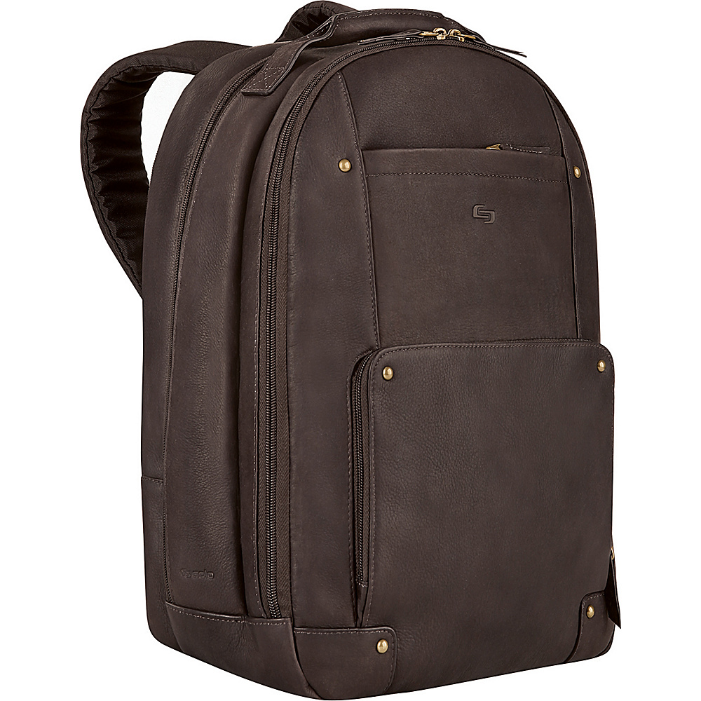 SOLO Vintage Laptop Backpack - Espresso - Backpacks, Business & Laptop Backpacks