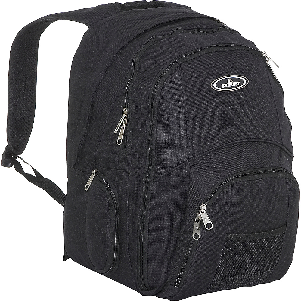 Everest Backpack With Laptop Storage - Black - Backpacks, Business & Laptop Backpacks