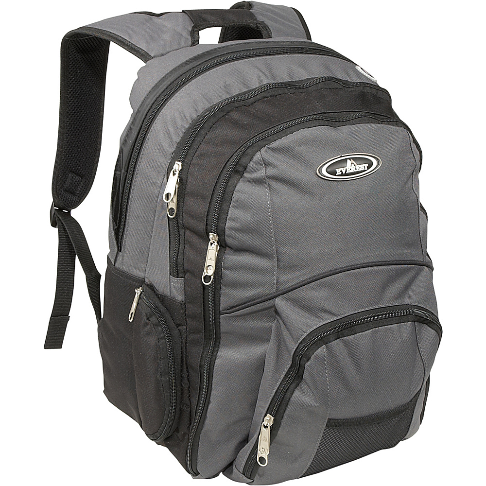 Everest Backpack With Laptop Storage - Charcoal/Black - Backpacks, Business & Laptop Backpacks
