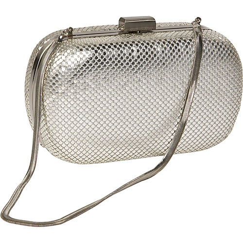 Whiting and Davis Mesh Minaudiere Satin Silver - Whiting and Davis Evening Bags