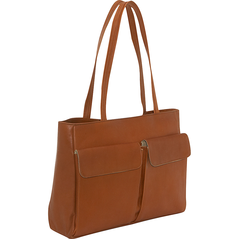 Clava Two Pocket Tote - Vachetta Tan - Handbags, Leather Handbags
