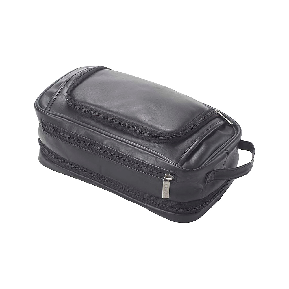 Clava Leather Expandable Toiletry Case - Vachetta Black - Travel Accessories, Toiletry Kits
