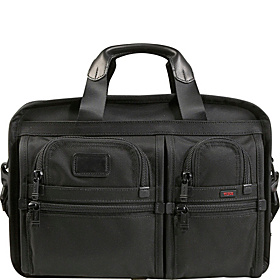 Alpha Expandable Organizer Computer Brief Black