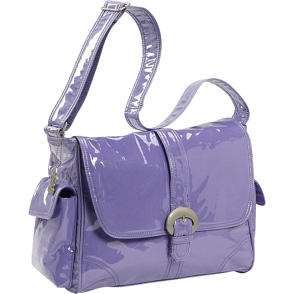 Kalencom Laminated Buckle Corduroy Diaper Bag - Purple - Handbags, Diaper Bags & Accessories