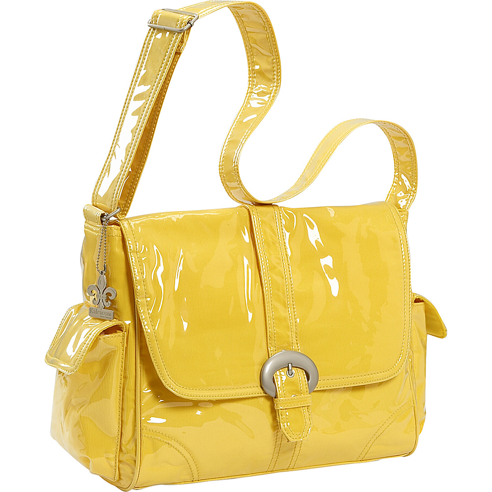 Kalencom Laminated Buckle Corduroy Diaper Bag - Yellow - Handbags, Diaper Bags & Accessories