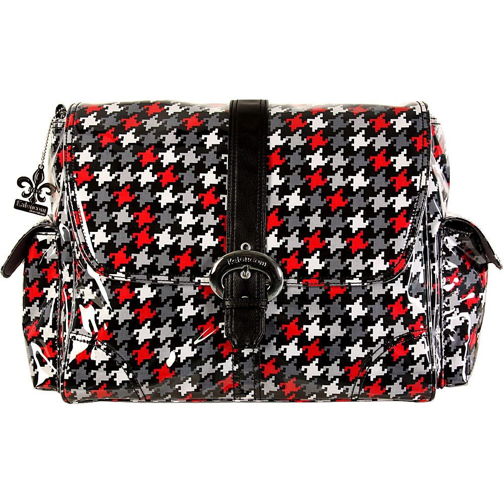 Kalencom Laminated Buckle Bag Houndstooth Black amp; Red Kalencom Diaper Bags Accessories