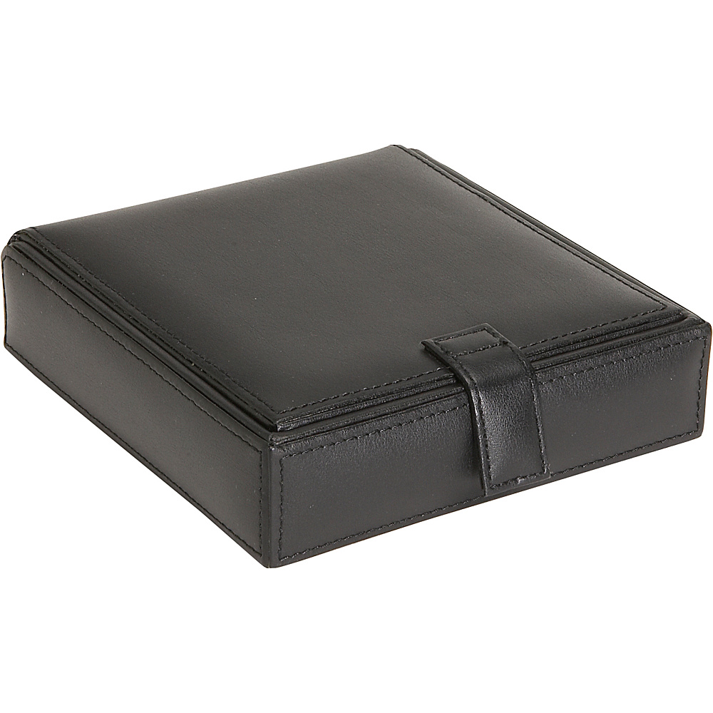 Royce Leather Watch Cufflink Box - Black - Work Bags & Briefcases, Business Accessories
