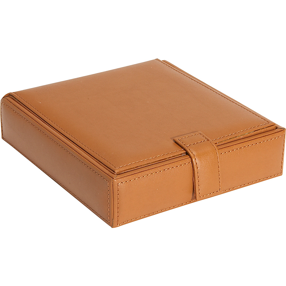 Royce Leather Watch Cufflink Box - Tan - Work Bags & Briefcases, Business Accessories