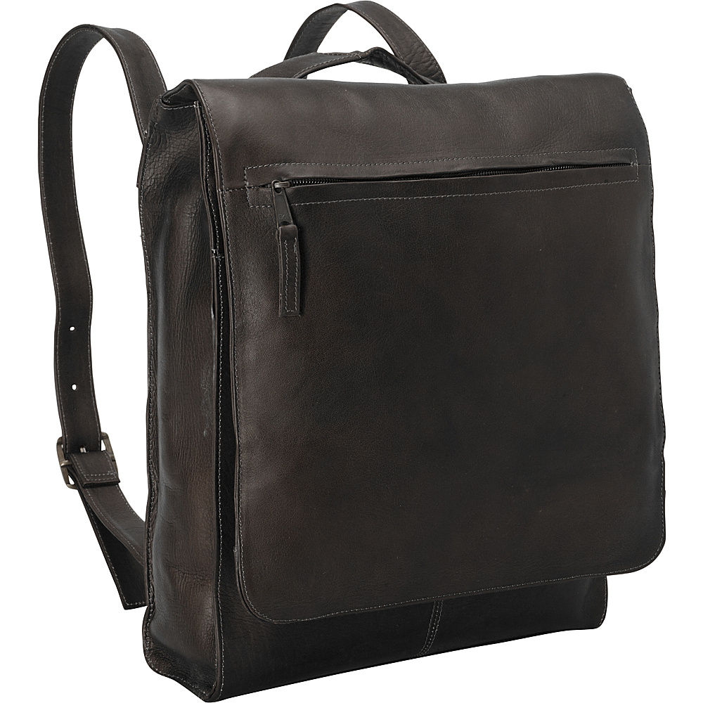 Latico Leathers Latico Basics North South Convertible Laptop Bag Cafe - Latico Leathers Business & Laptop Backpacks