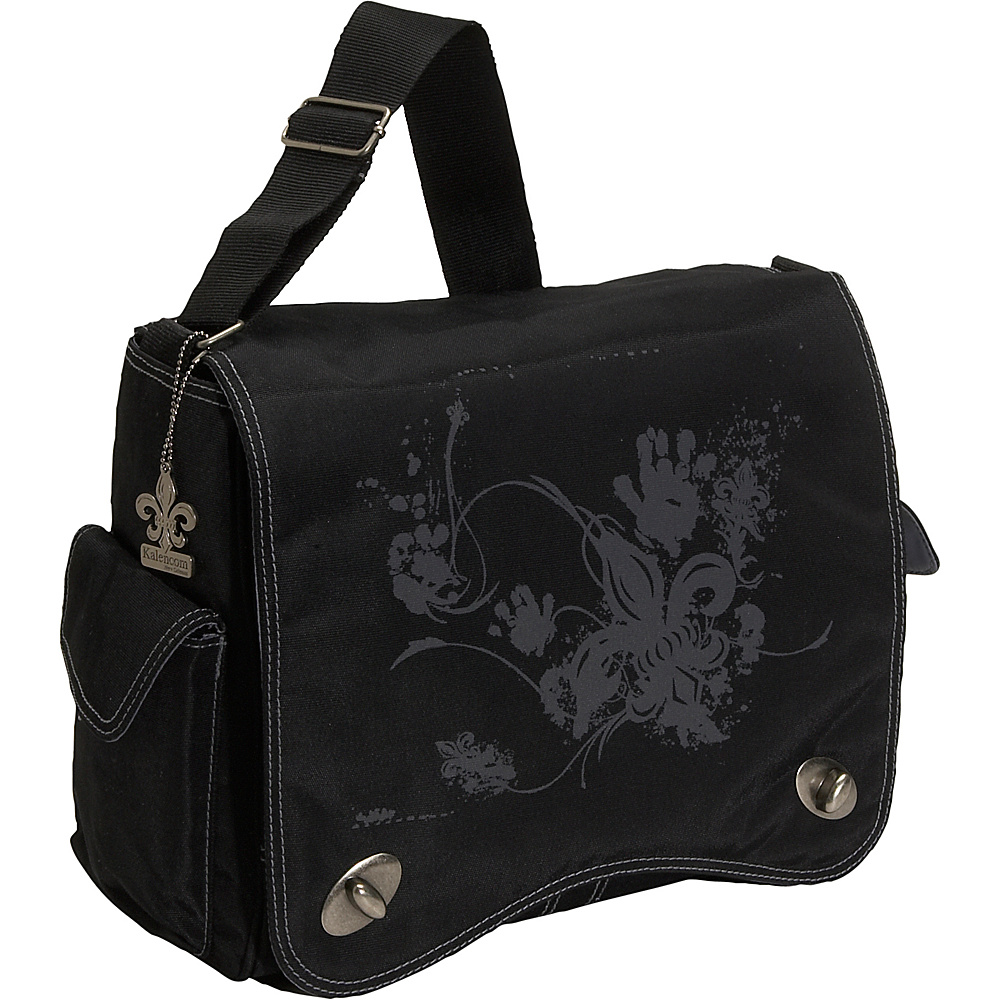 Kalencom Messenger Screened Diaper Bag - Black Screened - Handbags, Diaper Bags & Accessories