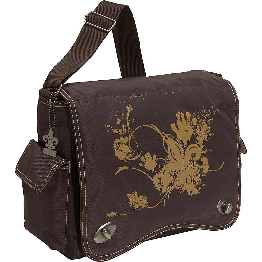 Kalencom Messenger Screened Diaper Bag - Chocolate/Tan - Handbags, Diaper Bags & Accessories
