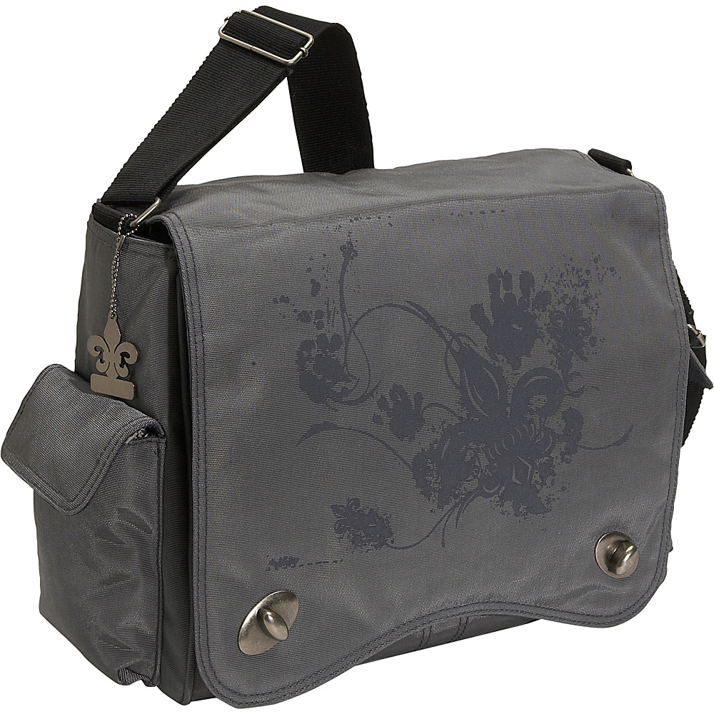 Kalencom Messenger Screened Diaper Bag - Gray Screened - Handbags, Diaper Bags & Accessories