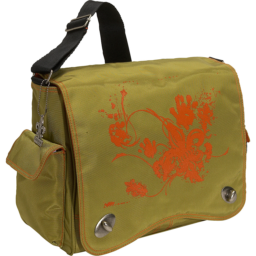 Kalencom Messenger Screened Diaper Bag - Olive Screened - Handbags, Diaper Bags & Accessories