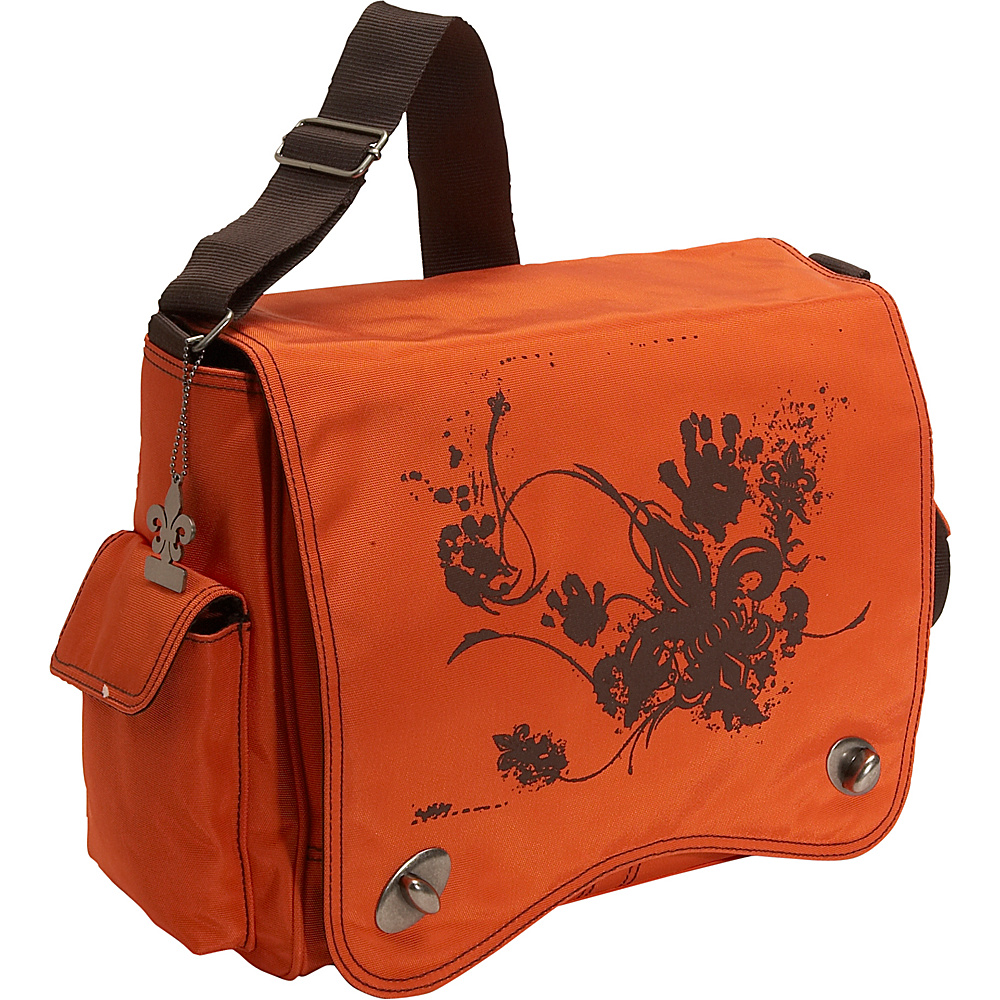 Kalencom Messenger Screened Diaper Bag - Orange - Handbags, Diaper Bags & Accessories