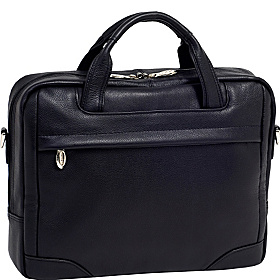 Montclare Leather 13.3'' Laptop Brief Black