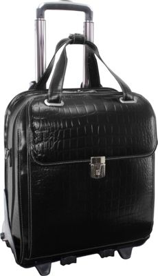 Siamod Monterosso Collection Novembre Ladies Wheeled Laptop Case Black - Siamod Wheeled Business Cases