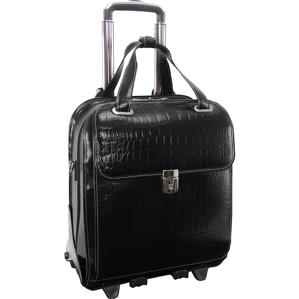 Siamod Monterosso Collection Novembre Ladies Wheeled Laptop Case Black - Siamod Wheeled Business Cases - Work Bags & Briefcases, Wheeled Business Cases