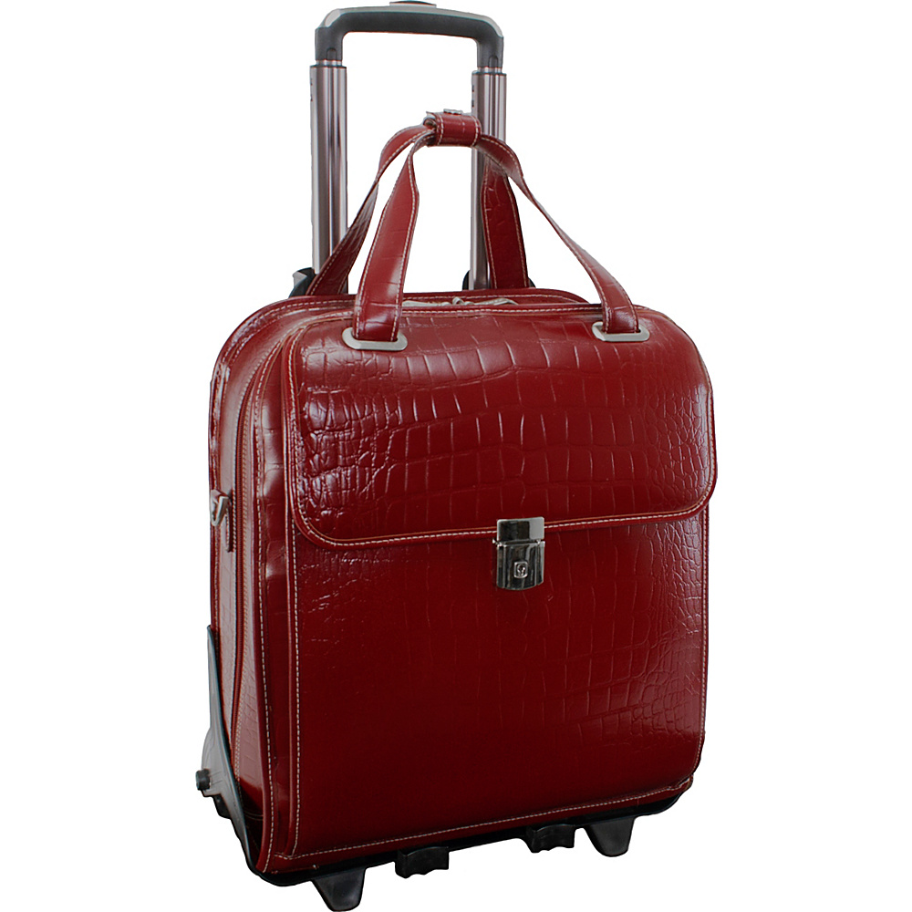 Siamod Monterosso Collection Novembre Ladies Wheeled Laptop Case Cherry Red - Siamod Wheeled Business Cases - Work Bags & Briefcases, Wheeled Business Cases