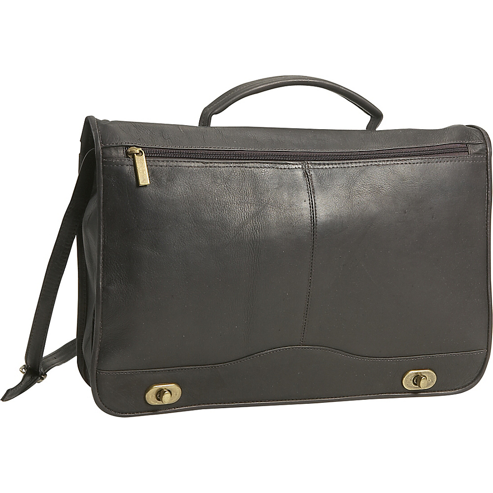 David King & Co. Full Flapover Briefcase - Cafe - Work Bags & Briefcases, Non-Wheeled Business Cases